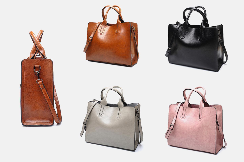 Handväska i PU läder | Erbjudanden och rabatter online