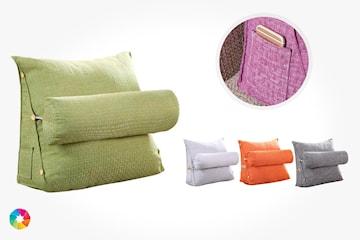 Ryggstöd med avtagbar kudde och mobilficka
