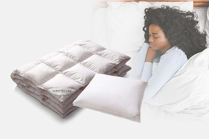 Sleep2care täcke eller kudde med hotellkänsla