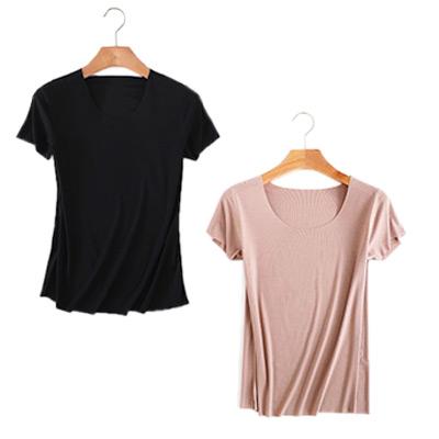 Svart, Beige, XXL, Women's Seamless Top, 2-Pack, T-shirt 2-pack,  (1 av 1)