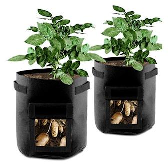 Svart, Plant Growing, Odlingssäck med lucka, ,
