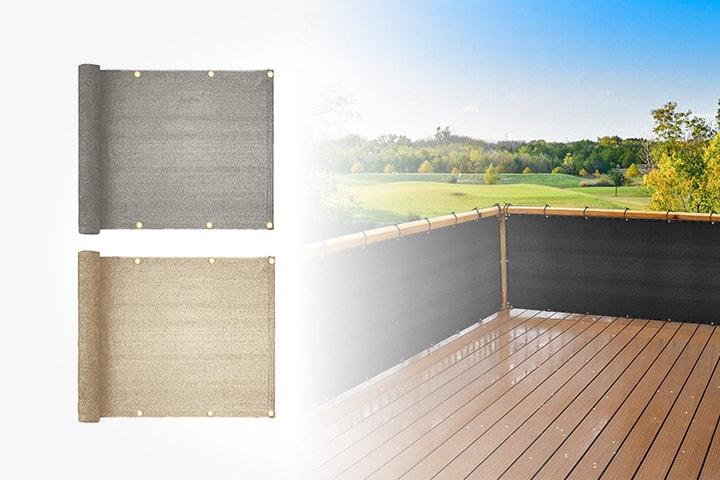 Balkongskydd 5 m x 95 cm