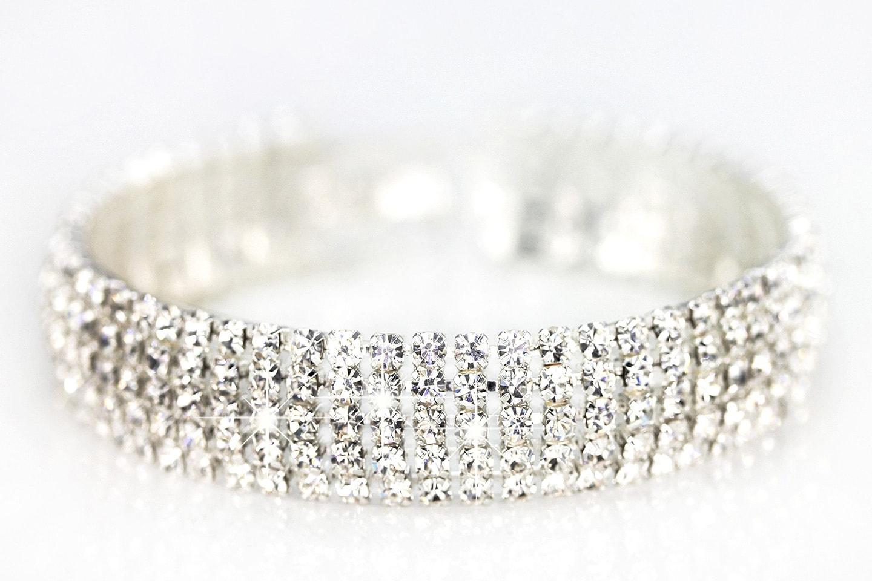 Stilrent armband med Swarovski-kristaller