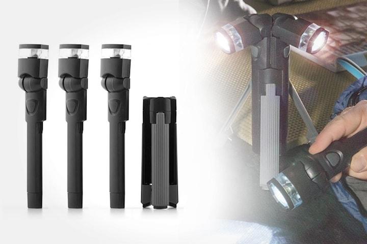 3-i-1 LED-lommelykt inkl. tripod