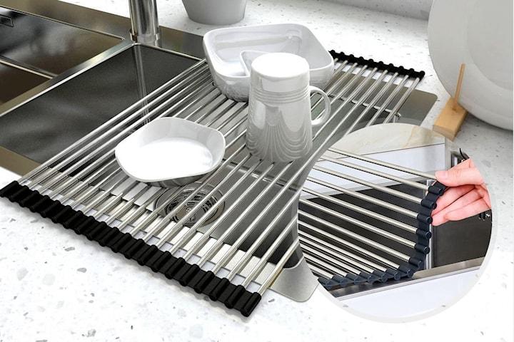Sammenleggbar servant til oppvasken
