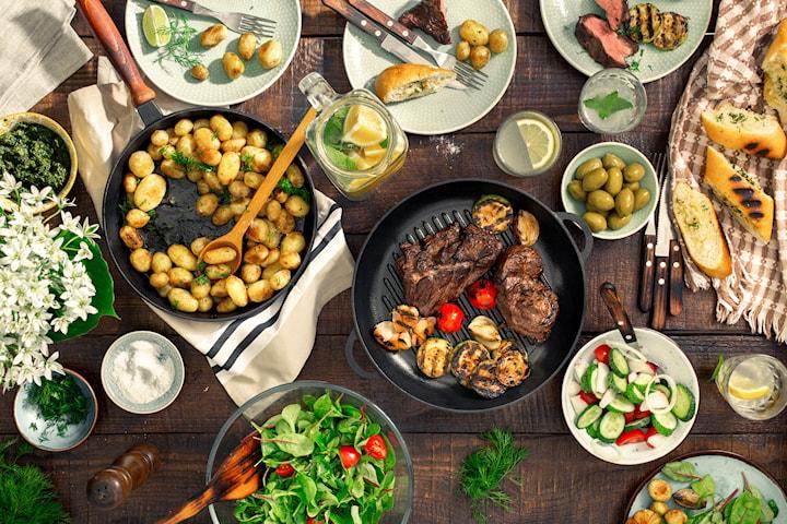 Tre-rätters middagskasse med fina råvaror från Kniv och Gaffel