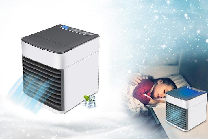 Bærbar luftkjøler med LED-lys