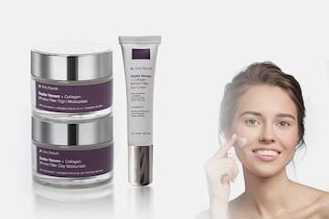 Tredelt fuktighetskrem-sett for yngre hud