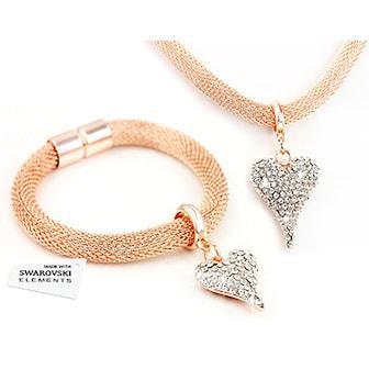 Roséguld, Two Piece Set, Halsband + armband, ,