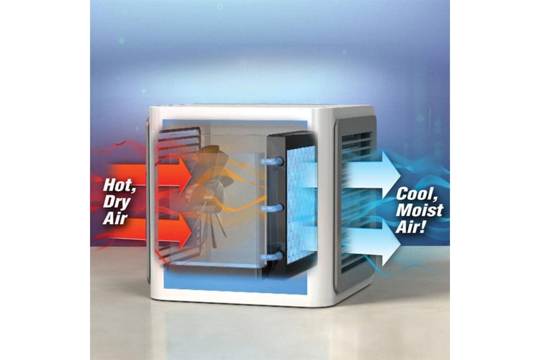 Luftkjøler med LED-lys