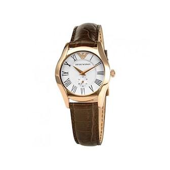 AR0678, AR0678, Armband: brun, läder. Urtavla: roséguld, rostfritt stål. Mått: 25 mm,