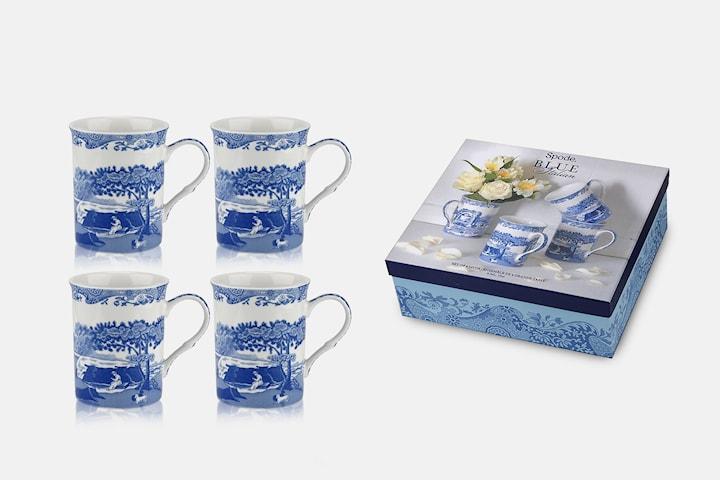 Spode Blue Italian muggar 4-pack
