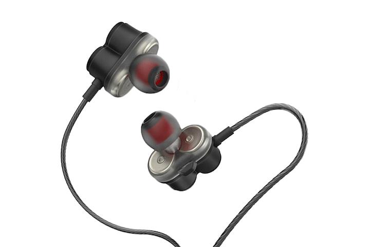 Snygga hörlurar med dubbla högtalare - Dual Drive