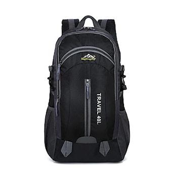 Svart, Outdoor USB backpack, 40 L, Ryggsekk 40L, ,