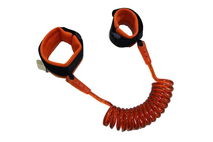 Elastiskt Barnkoppel (fästs vid handled) 2m - Orange
