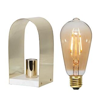 Brass + Amber, 2 Lampor + 2 Ljuskällor, 2 Lampor + 2 Ljuskällor, ,