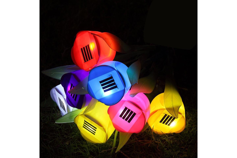 Solcellsdrivna tulpanlampor med LED 4-pack