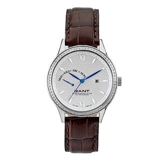W10764, W10764, Armband: brun, läder. Urtavla: rostfritt stål. Mått: 37 mm,