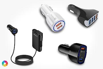 Mobilladdare med Quick charge 3.0-uttag till bilen