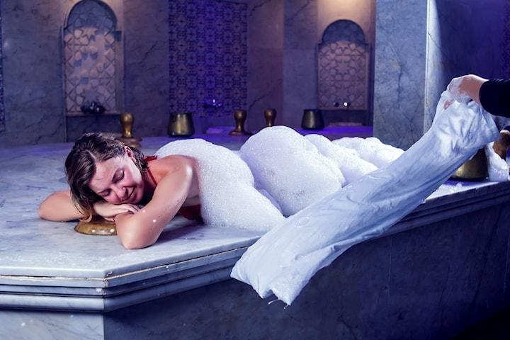 Turkiskt hamam-spa med massage