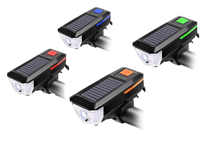 Solcelledrevet sykkellampe