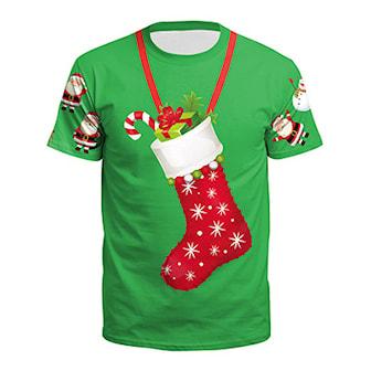 L, 2, Xmas T-Shirt, T-skjorte med julemotiv, ,