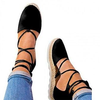 Svart, 39, Flat Peeptoe Sandals, Sandaler, ,