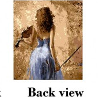 Back View, DIY digital oil painting, Mal ditt eget oljemaleri, ,  (1 av 1)