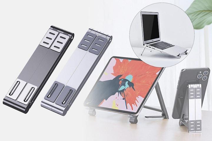 Justerbart stativ för mobil, surfplatta och bärbar dator