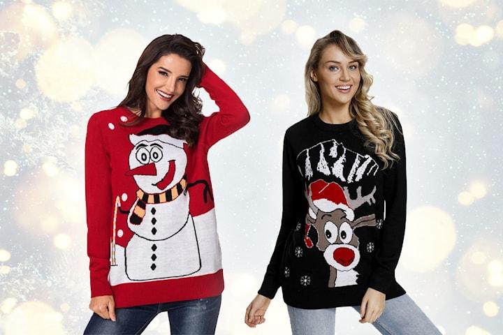 Julegenser med snømann/reinsdyr