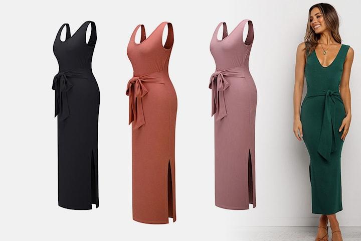 Ribbad klänning