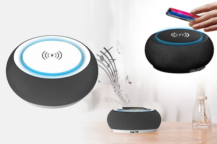 Bluetooth-högtalare med Qi-laddare