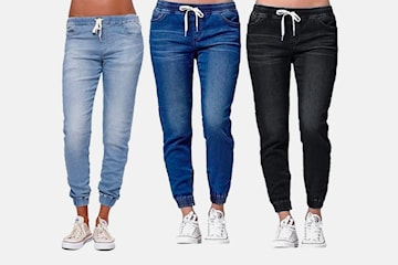 Stoffbukser i jeans-design