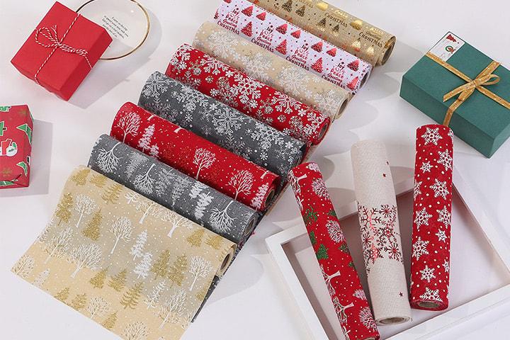 Løpere med dekorative julemotiver