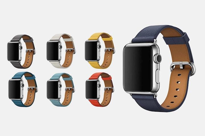 Läderarmband kompatibelt med Apple Watch