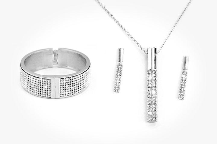 Vela smyckeset med Swarovski-kristaller