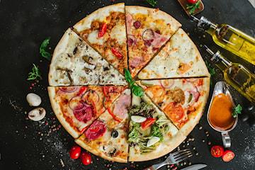 Pizzabuffet hos Restaurant Milano Møllenberg, sentralt ved Solsiden
