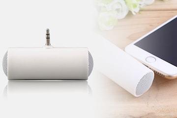 Mini høyttaler med 3,5 mm plug, 1, 2 eller 4-pack