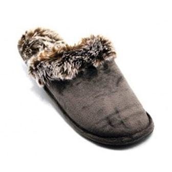 E, 38-40, Faux Fur Slippers for Woman, Flotte tøfler med fuskepels,