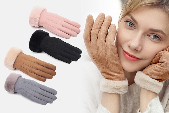 Semskede hansker i damemodell