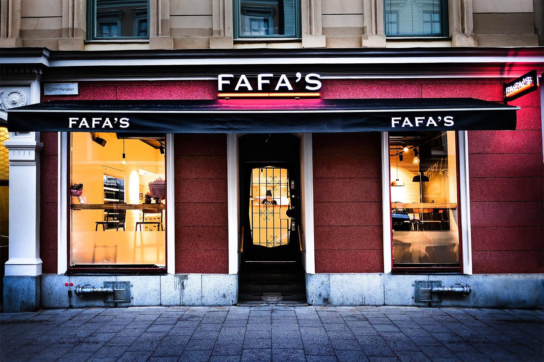 Lunch eller middag på Fafa's vid Odenplan