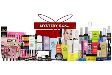 Mystery Box med skjønnhetsprodukter