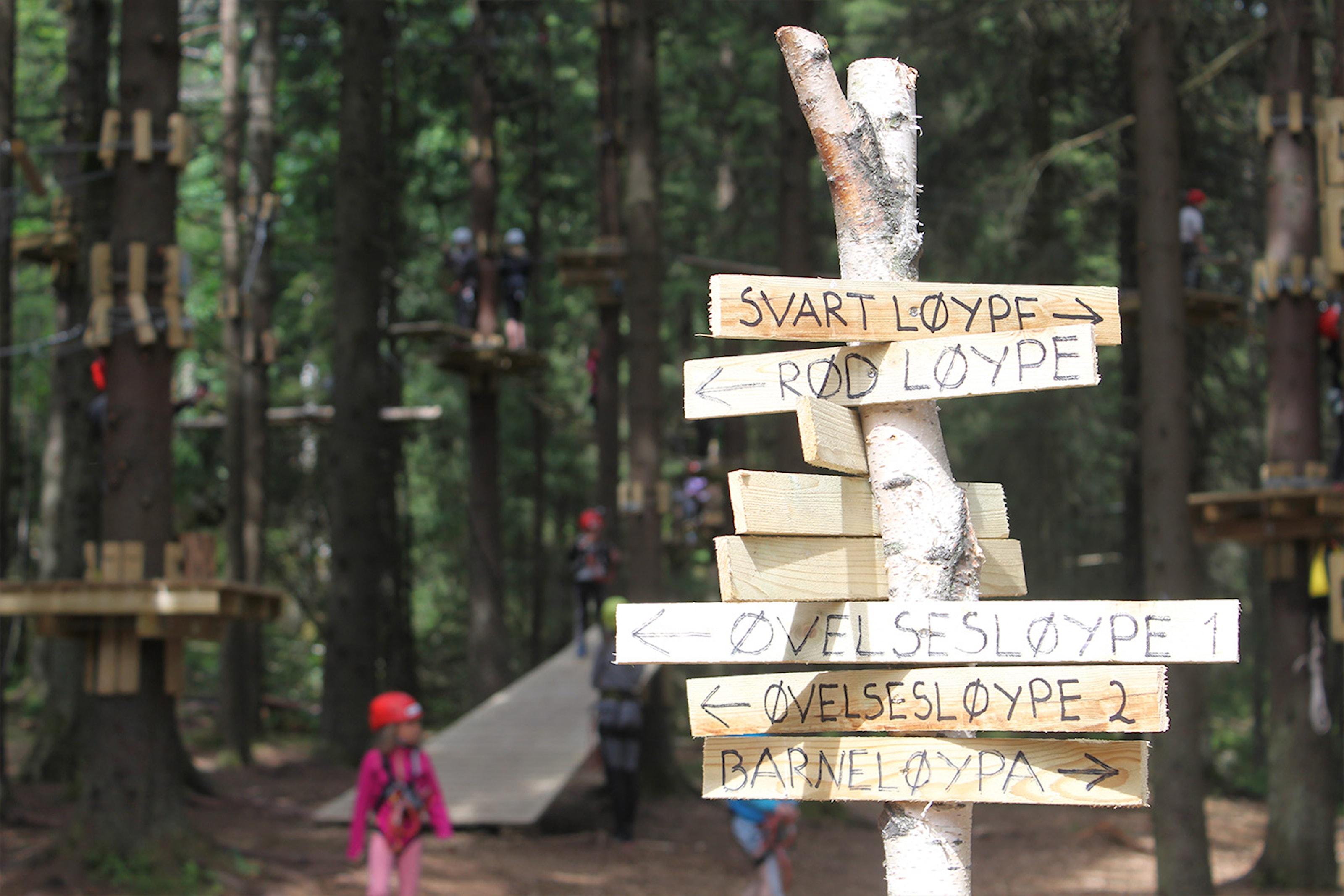 50% på billetter til Oslo Klatrepark i Groruddalen
