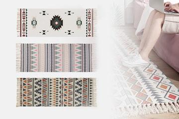 Matta med grafiskt mönster