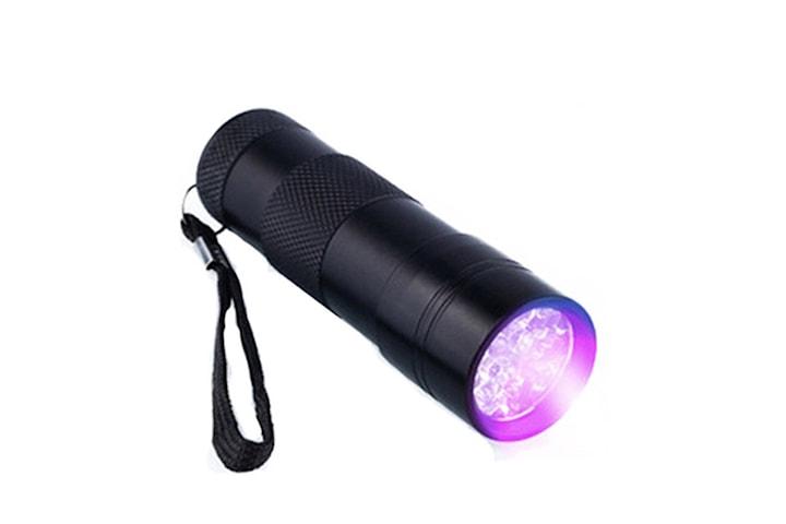 9x UV LED - Smidig & Liten UV Ficklampa