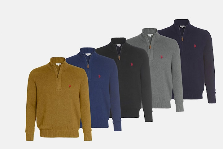 US Polo zip-genser