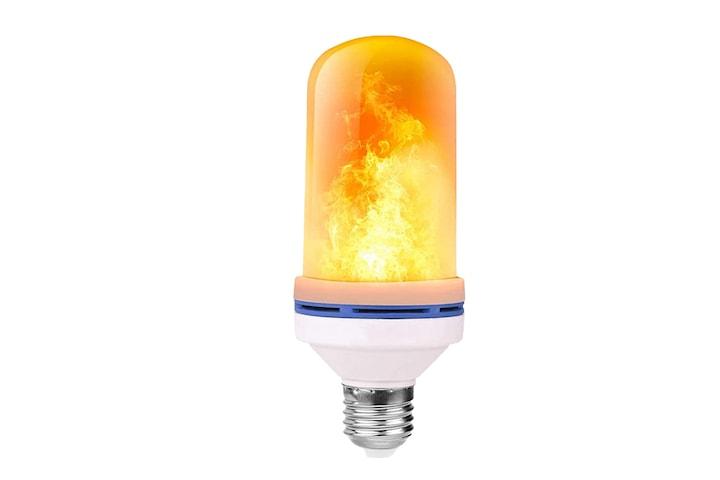 LED-lampa med flammande sken