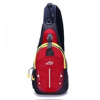 Röd, Outdoor Waterproof Sling Bag, Ryggsäck, ,