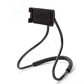 Svart, Flexible 360 universal neck mobile phone handsfree holder, Mobilhållare för nacken, ,