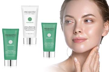 Probiotisk reparerande mask, serum och nattkräm